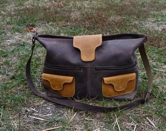 Leather Bag. Woman's Bag. Handbag. Crossbody Bag. Messenger Bag. Shoulder Bag. Designer Bag.