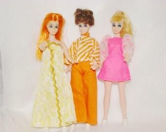 Montgomery Ward  Rare Dawn Trio Of Dolls
