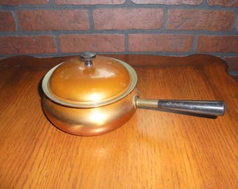 Vintage Douro B & M Copper Fondue Pot with Lid