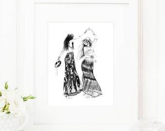 Tribe • Art Print   Fashion Illustration