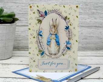 Beatrix Potter, Peter Rabbit, Just for You Cards, Just for You Card, Just Because Card, Peter Rabbit Cards, Peter Rabbit Card