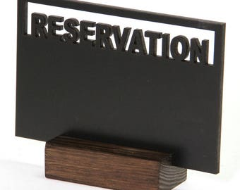 Cut Out Reservation Chalkboard Sign.  Restaurant. Pub. Personalise. - TK9