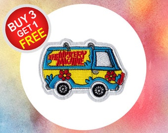Mystery Machine Patches Cute Patches Iron On Patch Embroidery Patches Sew On Patch Patches For Jackets