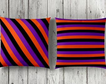 Halloween Pillow | Halloween Decor | Halloween Pillow Set | Purple Black Pillow | Halloween Cushion | Purple Black Pillow | Halloween Colors