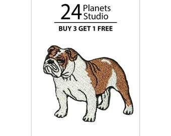 English Bulldog Iron on Patch by 24PlanetsStudio Cute Applique Cute Patch dog patch dogs