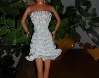 strapless white cotton thread