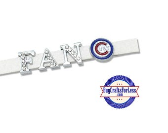 CHICAGO Baseball Slide Charm for 8mm Slider Bracelet, Collar, Key Ring +FREE Shipping & Discounts*