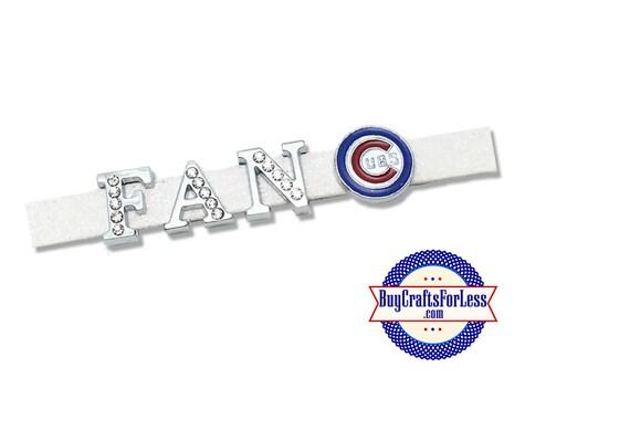 CHICAGO Baseball Slide Charm for 8mm Slider Bracelet, Collar, Key Ring +FREE Shipping & Discounts*