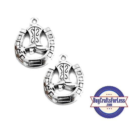 HORSESHOE BOOT Charms, 4 pcs-Great for Bracelet, Earrings or Pendant +FREE SHiPPiNG +Discounts*