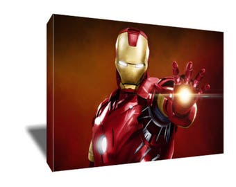 FREE SHIPPING Robert Downey Jr as Iron Man Canvas Art