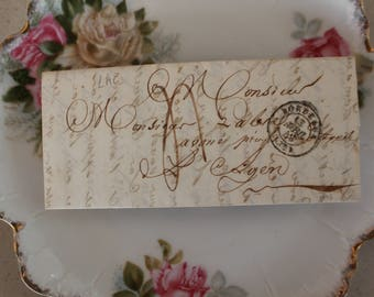 1848 Antique French Letter