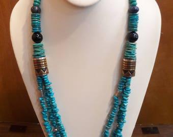 Authentic Native American Navajo Handmade Multi-stone Beaded Necklace