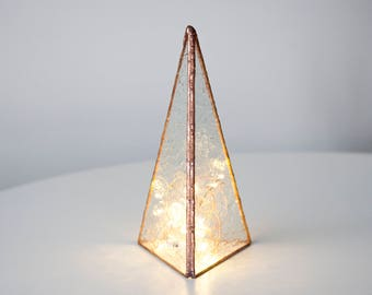 Minimal Prism Glass Tree in 3 Different Sizes (includes lights)