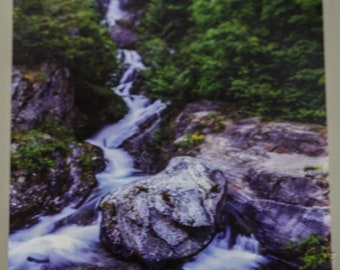 Waterfall in the North Cascades National Park Postcard