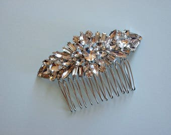 Bridal Hair Comb, Gorgeous Sparkle, Quality Rhinestones, Wedding Hair Comb, available in Rose Gold & Silver