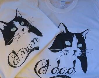 Cat Mum & Cat Dad matching set