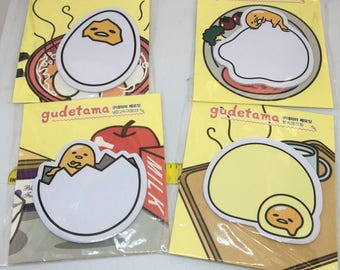 One Package Gudetama Sticky Notepad 30 sheets for scrapbooks, planners or journals from Korea The Lazy Yolk