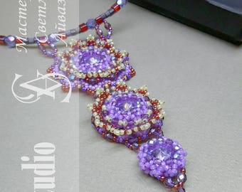 "The pendant ""Lavender Dawn"""