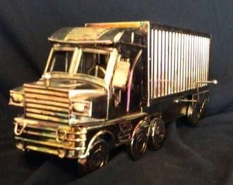 Copper semi and trailer music box