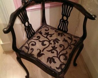 Antique Edwardian/Victorian Corner Chair