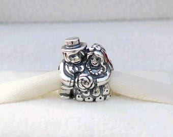 Pandora Mr and Mrs Bride and Groom Charm/Fully Stamped