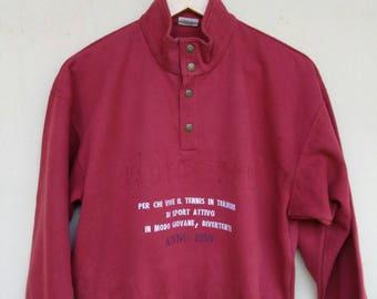Ellesse sweatshirt sweater jumper pullovee button