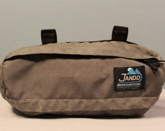 Vintage 90's Jando Mountaineering Santa Barbara Handlebar Cycling Pouch with Reflective Strip