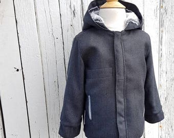 Wool Jacket Made From a Repurposed Bamboo Suit