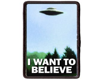 X Files I want to Believe  Sew On patch