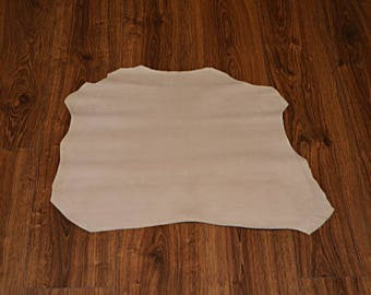 Skin of lamb leather velvet ecru (9359118)