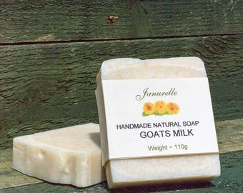 Goats milk soap. Natural handmade soap, skin irritant, colour and fragrance free. SLS free