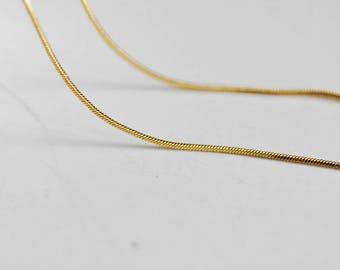 Full gold fine chain 14K - 45cm - snake