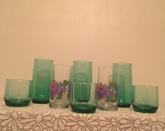 10 piece vintage glass collection
