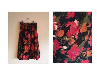 90's Floral Skirt
