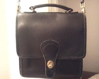classic coach vintage crossbody shoulder bag leather USA
