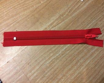 Rits niet scheiden van 18 cm lang rood