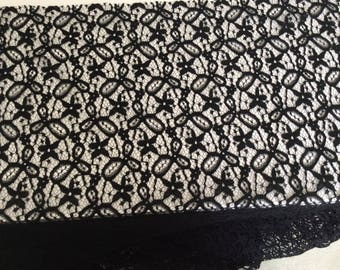 Cacharel 105 cm wide Black Lace fabric