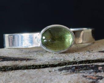 Peridot Silver Ring