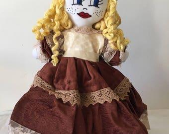 "Hand made rag doll ""Mélissa"""