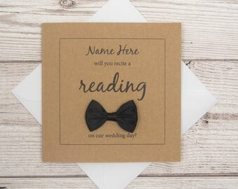 Wedding Reader Card, Will You Recite A Reading On Our Wedding Day?, Wedding Party Invite, Wedding Reader Card, Proposal Card, Do a Reading