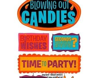 Stickers glitter birthday happy birthday Sticko 17 x 10 cm creative cardmaking scrapbooking