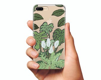 The flower tropics case clear case iPhone 6s case iPhone 6s Plus csae iPhone case art tropics cover iPhone 5s case phone case silicone case