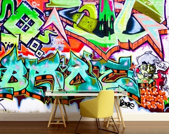 Street Graffiti, Graffiti Wall Decal, Graffiti Wallpaper, Self Adhesive  Vinly, Graffiti Part 86