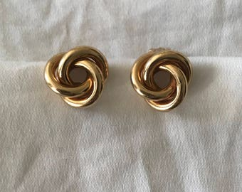 Tiffany & Co 14k Yellow Gold Knot Clip On Earrings