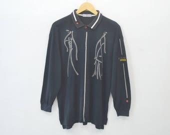KANSAI MAN Vintage 90's Kansai Man Kansai SICURO Long Sleeve Polo Shirt Size S