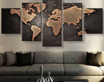 Stunning 20 world wall art decorating design of best 20 map wall world wall art world map canvas etsy gumiabroncs Image collections