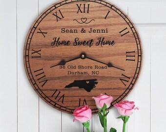 North Carolina Housewarming Gift - New Home - State Map - Living in North Carolina - Home NC - Tar Heel State - Home Sweet Home