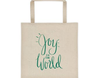 Joy to the World Holiday Tote