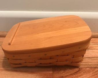 Longaberger 'Note Pad and Lid' Set