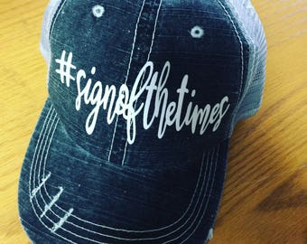 Sign of the Times-Harry Styles-Distressed Trucker Hat-New